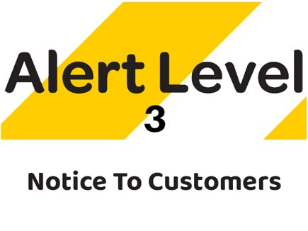 New Zealand Alert Level 3 Notice to Customers